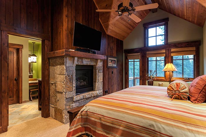 Martis Camp - Lot 270 - Bedroom Fireplace